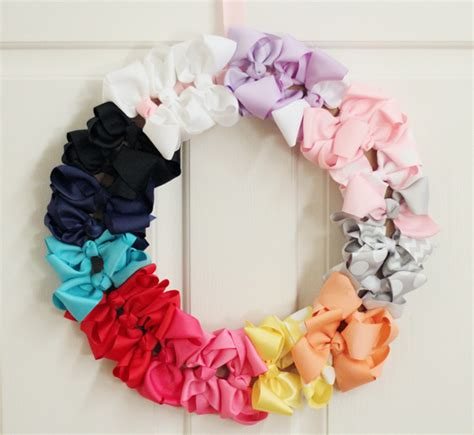 diy decorations bows diy bow wreath aka easy baby shower gift style