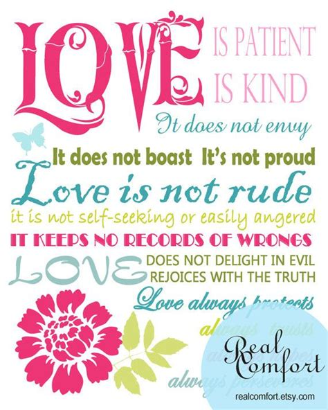 love how artsy it is but i would need different colors love is patient artsy bible verses pinterest