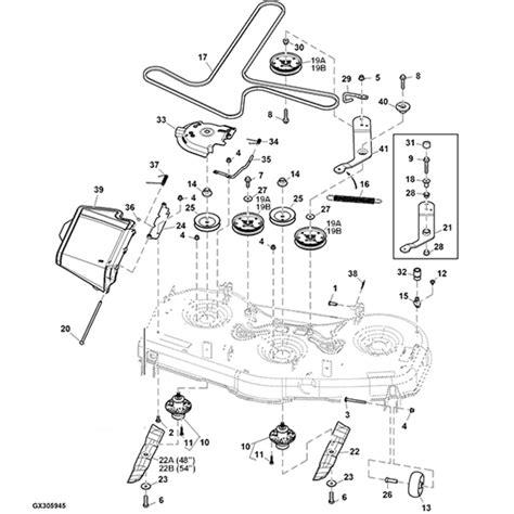 deere deck parts diagram deere z525e z535m z540m 48 quot 54 quot mower deck parts