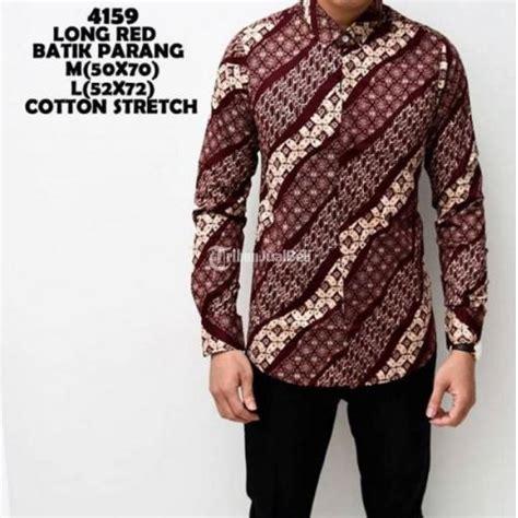 Kemeja Batik Pria Peta baju batik pria motif batik parang bahan katun terbaru