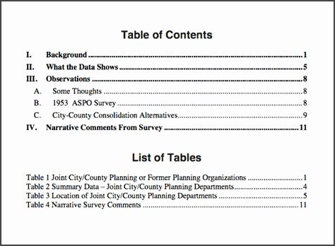 research paper table of contents research paper table of contents template april