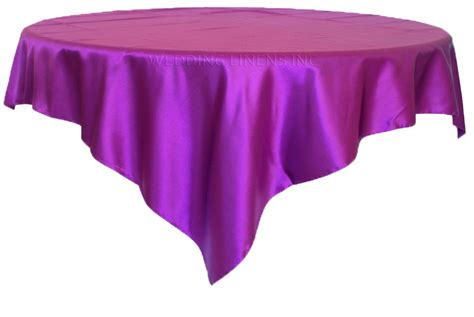 purple table overlays 54 quot purple satin table overlays toppers