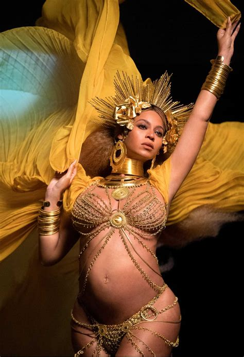 Beyonce In A by Beyonce At The 59th Grammy Awards In Los Angeles Donut