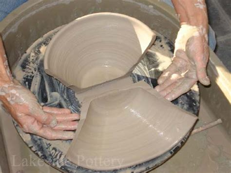 throwing a pot trimming a pot on the pottery wheel step by step lesson