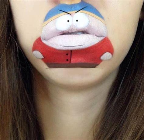 tattoo sa lips avec du maquillage elle fait de sa bouche des personnages
