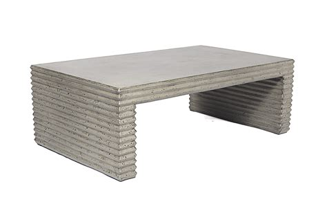 Concrete Outdoor Coffee Table Beltone Outdoor Concrete Coffee Table Mecox Gardens