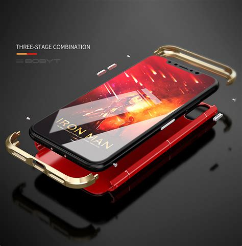 Bumper Armor Metal 3 In 1 Cover Casing Xiaomi Redmi Note 4x 3 in 1 metal bumper pc back shell shockproof for iphone x sale banggood