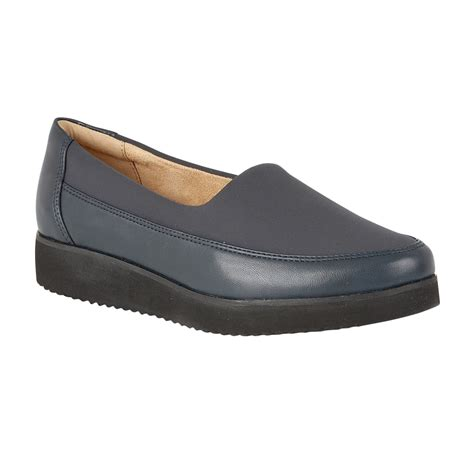 naturalizer shoes neoma navy leather slip on pumps shoes