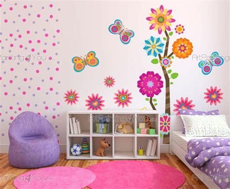 Painting Graffiti On Bedroom Walls Vinilos Infantiles Flores Amp Mariposas Kit Artpainting4you Eu 174 Vdi1188es