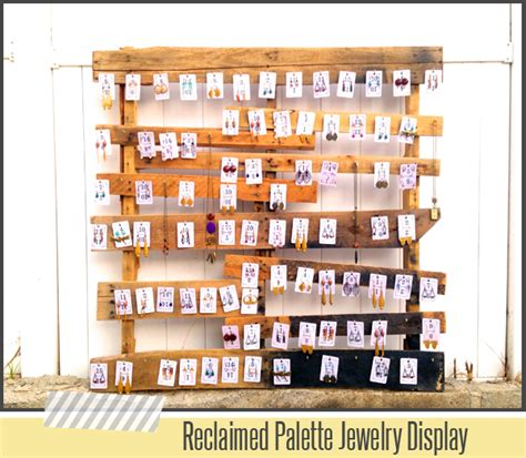 How To Display Handmade Jewelry - reclaimed palette jewelry display diy