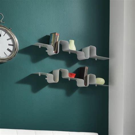 mensola metallo mensola a parete in metallo bianco 85 cm