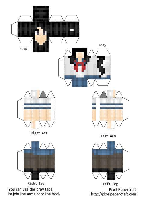 D D Papercraft - papercraft de yandere simulator parte 1 taringa