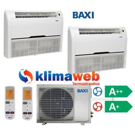 split a soffitto climatizzatore condizionatore baxi dual split pavimento