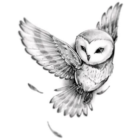 black and white owl tattoo designs barn owl design ideas colour