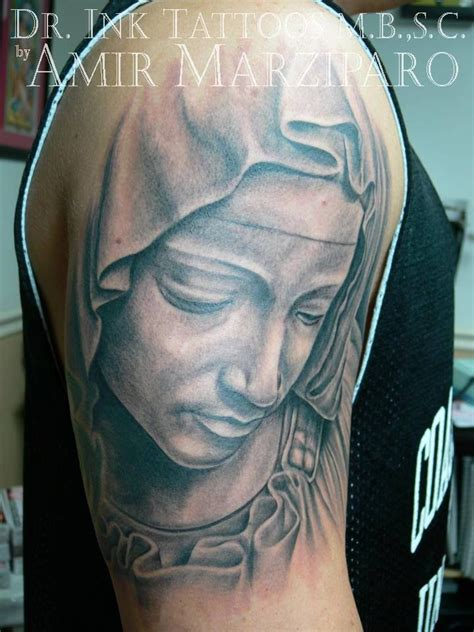 virgin mary tattoo meaning realistic by amir marziparo dr ink