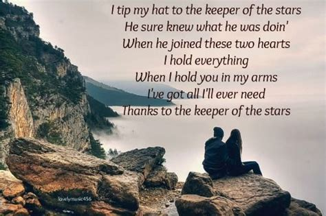 printable lyrics to keeper of the stars by tracy byrd tracy byrd the keeper of the stars one of our songs