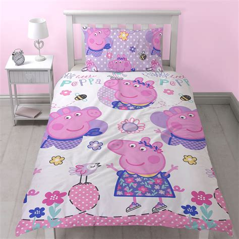 peppa pig comforter set peppa pig happy single duvet cover set reversible new