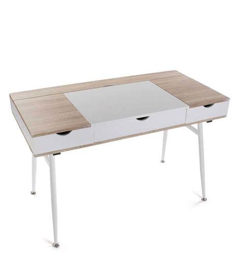 bureau pratique et design bureau design bois et m 233 tal blanc avec multiples rangements