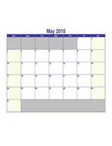 May 2015 Calendar Template by May 2015 Calendar Template Free
