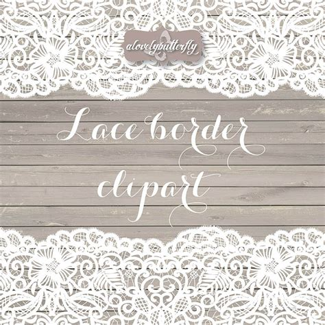 Wedding Lace Border Clip by Wedding Clipart Lace Border Rustic Clipart Shabby Chic