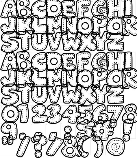 Patchwork Font - patchwork stitchlings font