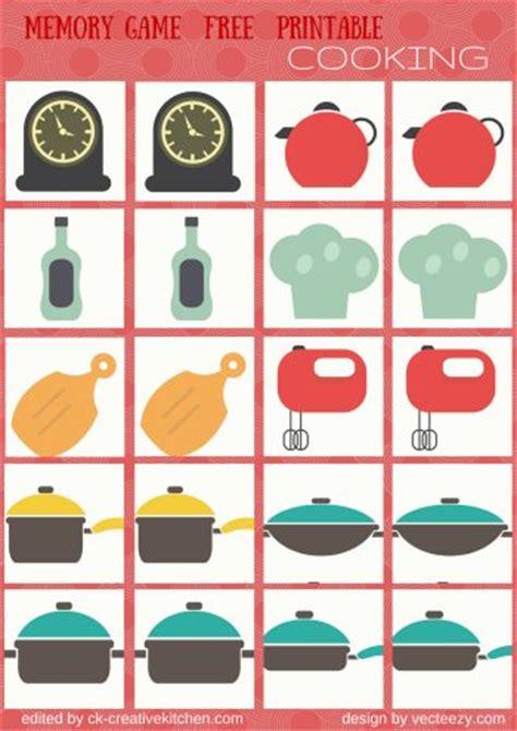 printable kitchen games hobbies memory game free printables creative kitchen