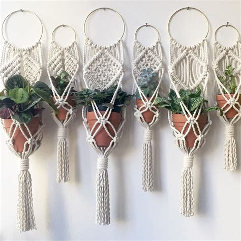 Macrame Patterns For Hanging Plants - mini plant hangings are still available and only 15 each