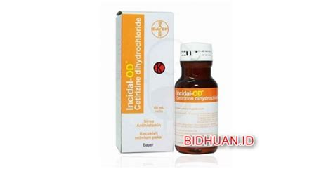 Obat Cetirizine Syrup insidal tablet dan syrup obat alergi cara kerja dosis penggunaan efek sing dan harga