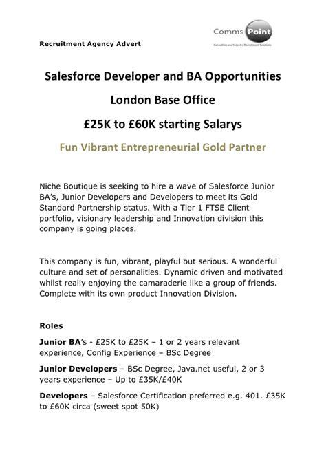 sales jobs london salesforce developer jobs london