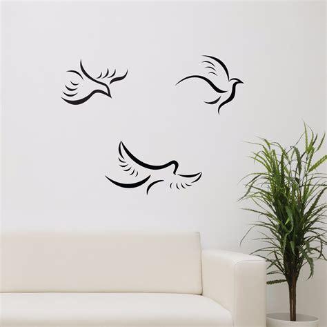 flying birds wall stickers 3 flying birds vinyl wall sticker decor decal livingroom