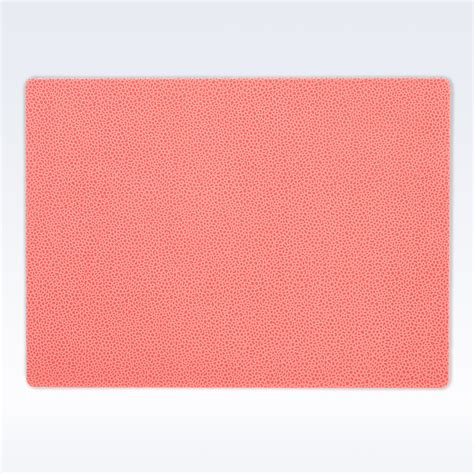 Coral Mat by Coral Caviar Leather Place Mat Place Mats Home Office