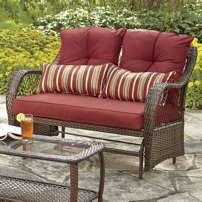 wicker glider loveseat resin wicker glider loveseat from seventh avenue d8749277