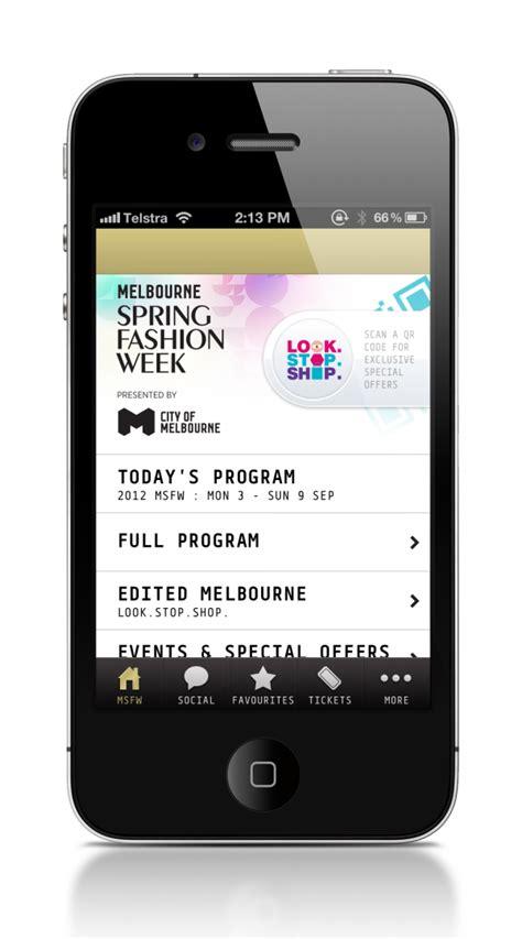 app design melbourne melbourne spring fashion week iphone app finalist 2013