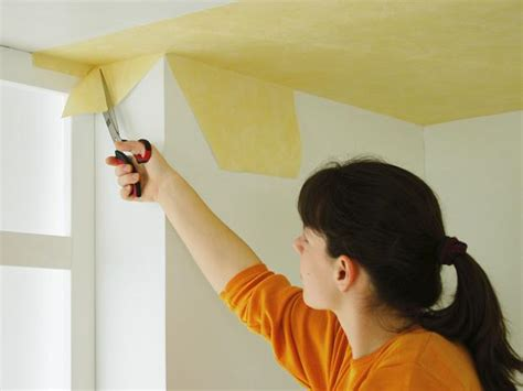Vliestapete Ecken Tapezieren by Wie Sie Decken Mit Vliesfaser Tapezieren Bauhaus