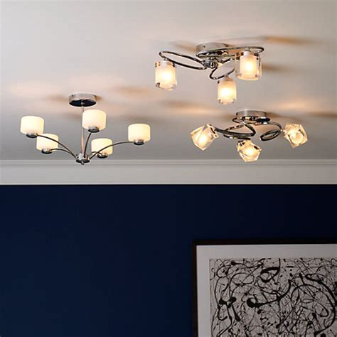Buy John Lewis Nembus Semi Flush Ceiling Light John Lewis Lewis Flush Ceiling Lights