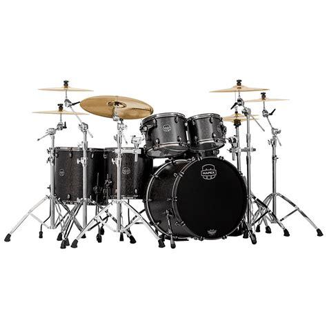 mapex saturn series drums mapex saturn v mh serie 22 quot flat black maple burl