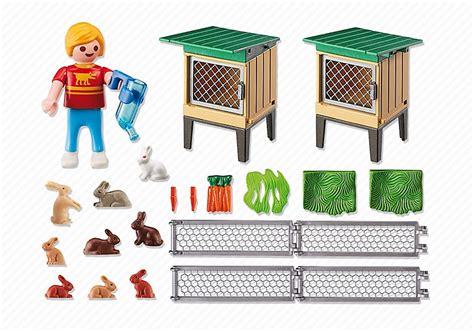 Rabbit Cage Hutch Playmobil Enfant Avec Enclos 224 Lapins Et Clapiers 6140