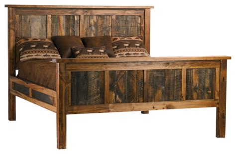 rustic king size bed wyoming collection reclaimed barnwood bed king size