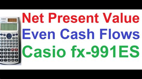 Net Present Value Mba Math by Net Present Value Npv Calculation For Even Flows
