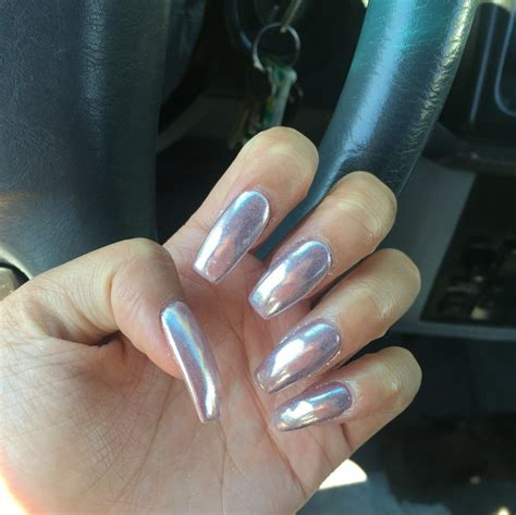 different color nails chrome nails now available in 18 different colors ask for