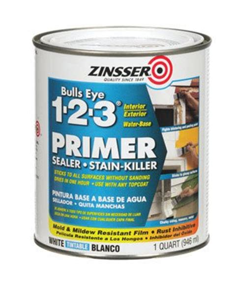 best zinsser primer for cabinets zinsser bulls eye 123 primer infobarrel