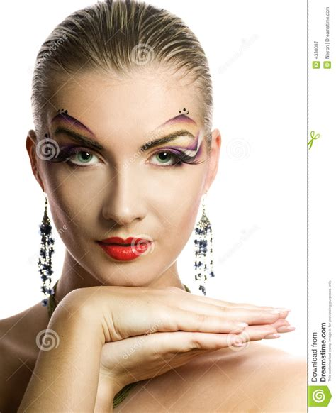 creative in make up but what we see in these hot girls wallpaper creative make up stock image image of butterfly