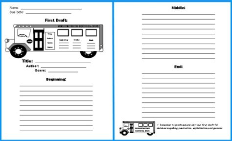 Report Back Template amelia bedelia day of school lesson plans author