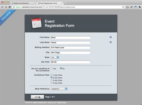 adobe form template creating a form from a template gt using the new adobe