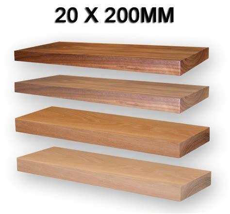 20 Floating Shelf by Oak Floating Shelf 20x195mm Solid American White Oak