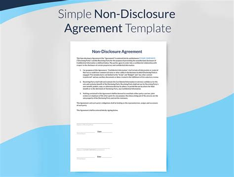 simple non disclosure agreement template non disclosure agreement template free sethero