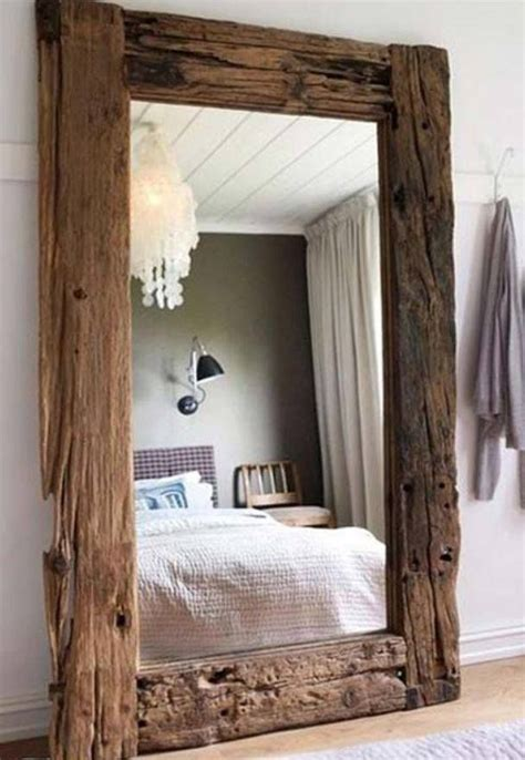 spiegel rustikal create your own rustic mirror by framing a plain one with