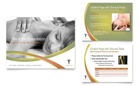 templates for massage flyers massage chiropractic powerpoint presentation template design