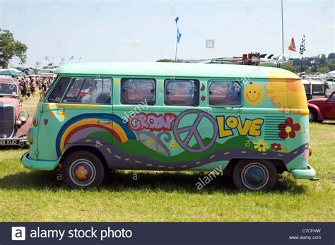 volkswagen hippie van hippy vw screen cer van at the bristol volksfest