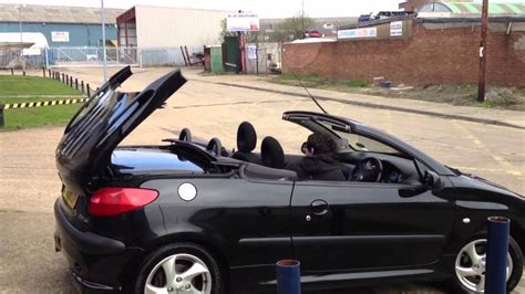 used peugeot 206 cc peugeot 206 cc taking down the roof youtube
